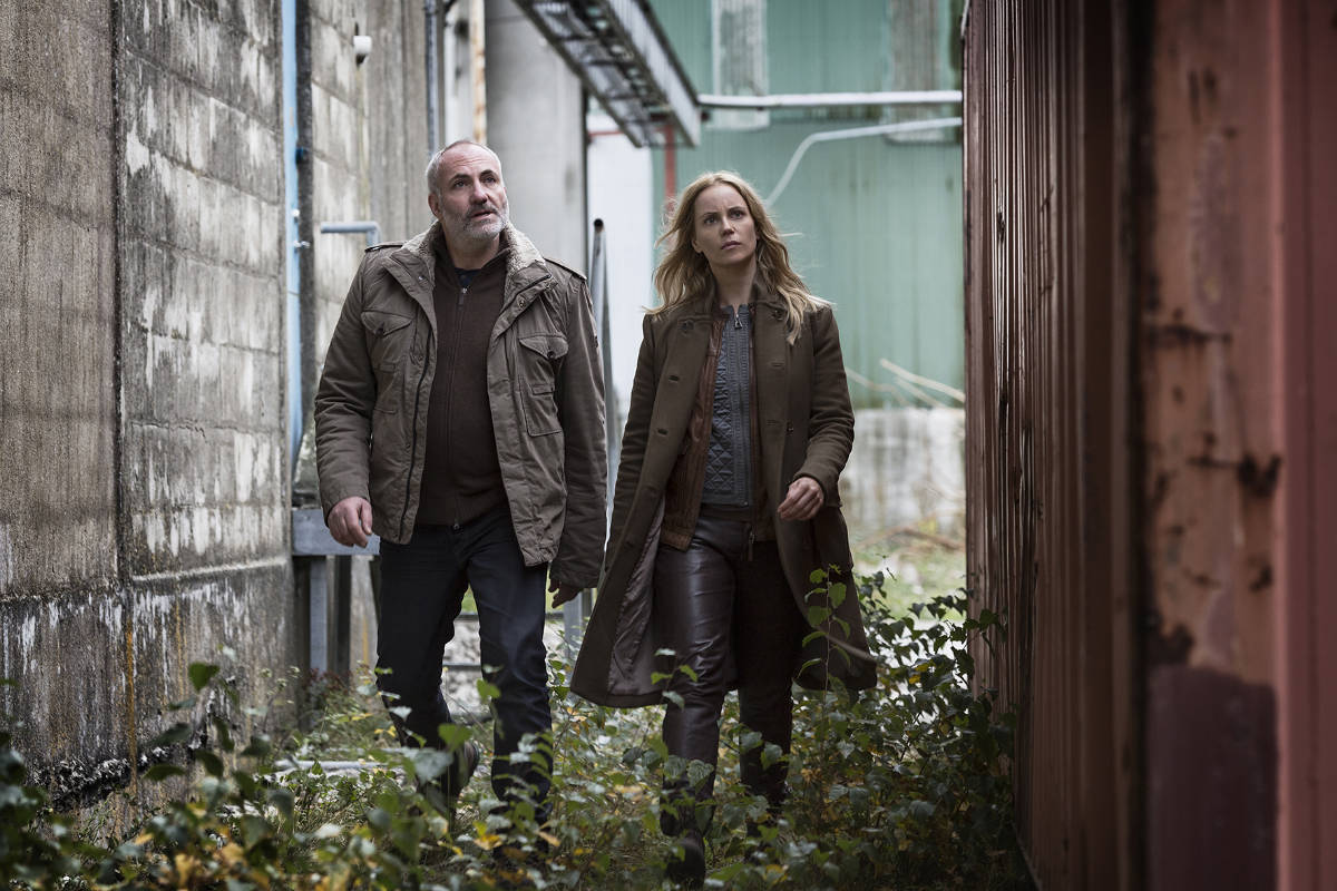 Photo: Carolina Romare / The Bridge season 2 Kim Bodnia as Martin Sofia Helin as Saga