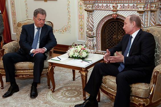 Президент Финляндии Саули Ниинистё встретился с президентом России Владимиром Путиным в Москве. Фото: presidentti.fi