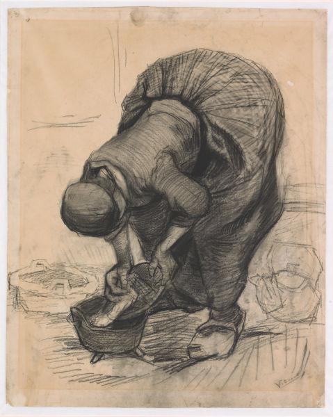 Винсент Ван Гог.Крестьянка, моющая горшок. 1885. Из коллекции музея Крёллер-Мюллер, Оттерло, Нидерланды.Фото: Рик Кляйн Готинк